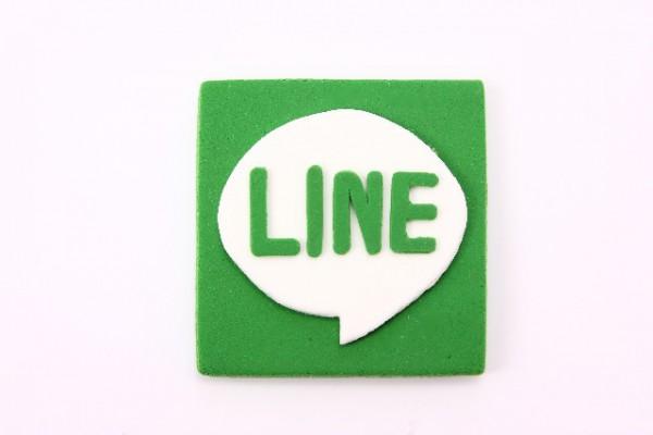 LINEアプリアイコンのクレイアート