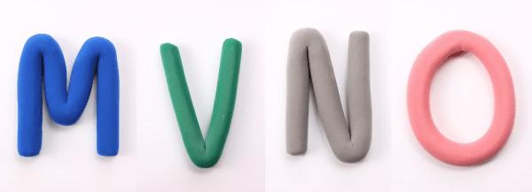 MVNOという文字ののクレイアート