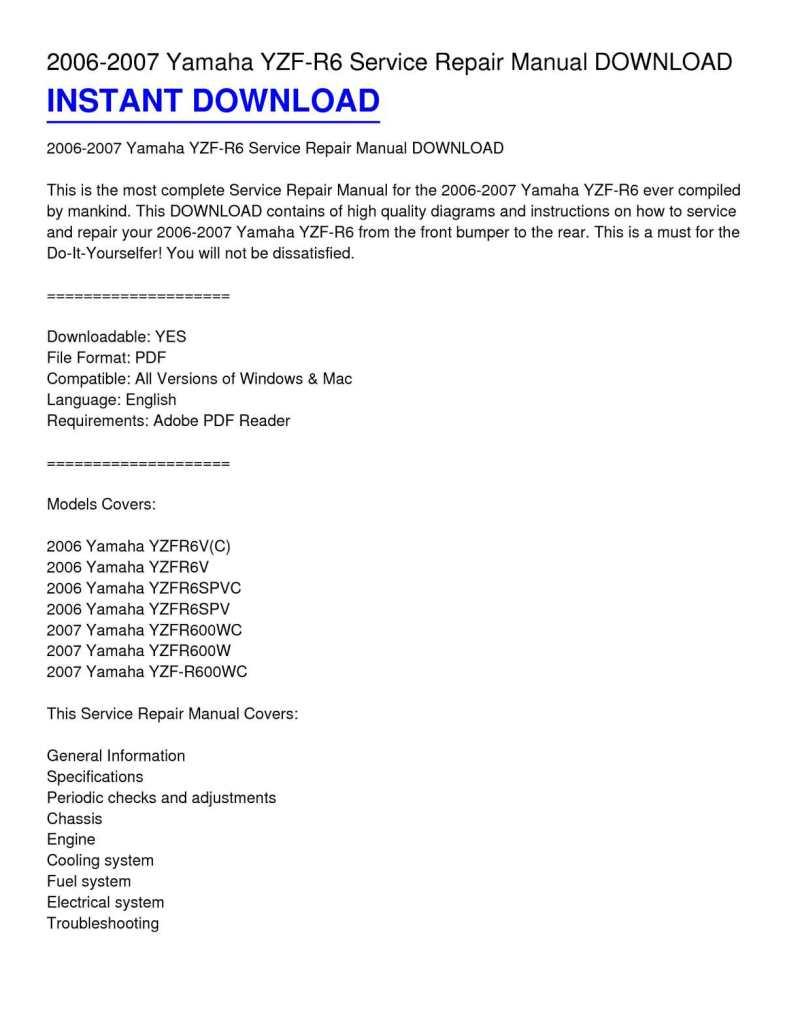 Yamaha Yzf R6 2006 Manual 06 Engine Diagram Calamo 2007 Service Repair