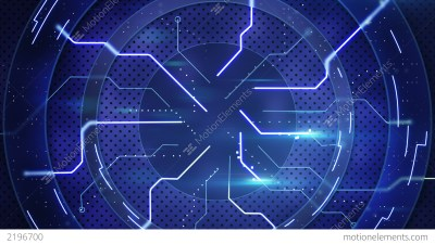 Blue Hi-tech Abstract Loopable Background Stock Animation | 2196700