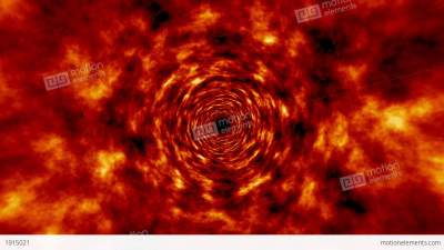 Fire Tunnel Rotating Vortex Fly Through Background Stock Animation | 1915021