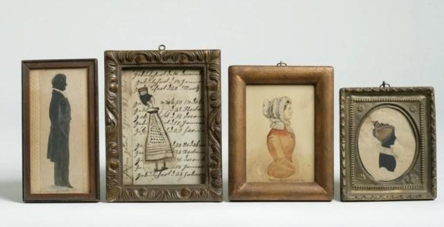 13: A Group of Four Portrait Miniatures