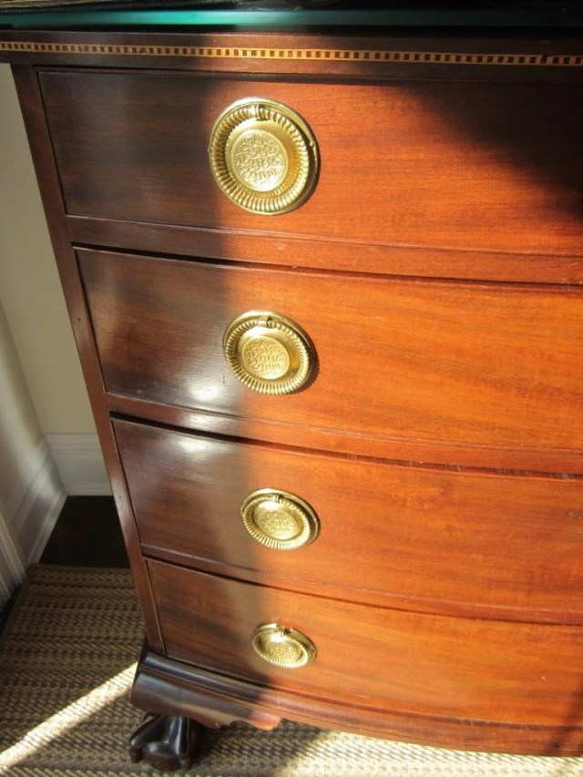 76: Chippendale Inlaid Mahogany Bow-Front Chest