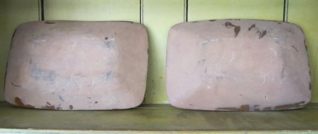 145: Two Slip- Decorated Redware Rectangular Trays