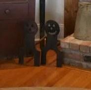 188: Pair of Pumpkin Head Iron Andirons