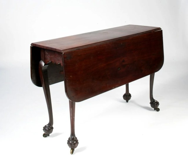 209: Kittredge Family Chippendale Mahogany Dining Table