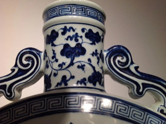 214: A Ming-Style Blue and White Porcelain Moonflask