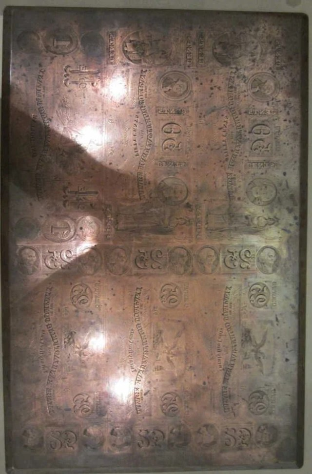 244: Engraved Copper Plate for Printing Currency