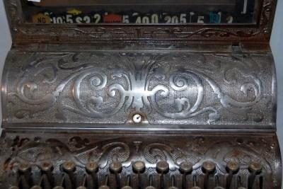 206A: Antique Michigan Cash Register, Nickel Finish : Lot 206A