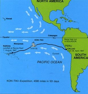 Kon-Tiki-ekspidisjonen (Foto: Kon-Tiki Museet)