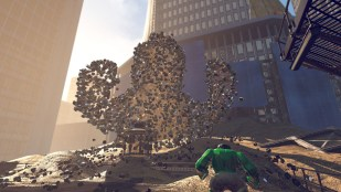 Sandman gir Hulk utfordringer i LEGO Marvel Super Heroes (Foto: Warner Bros. Interactive Entertainment).