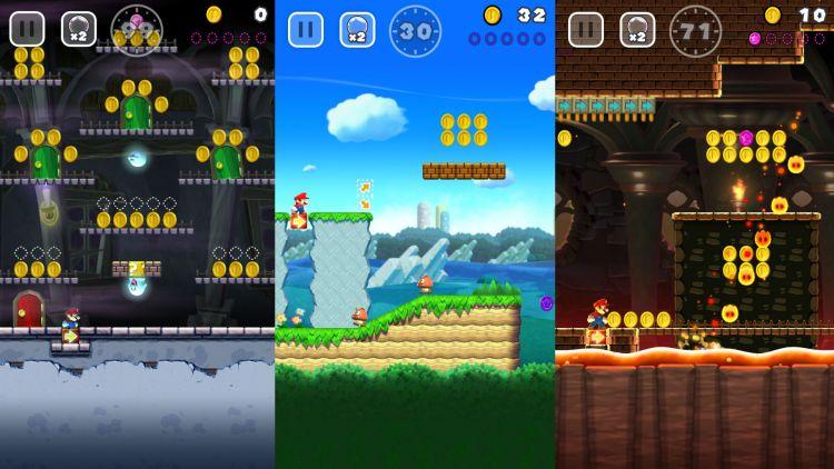 Brettene i Super Mario Run får et nostalgisk hjerte til å banke. (Foto: Nintendo).