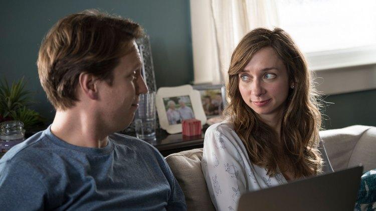 Skilsmissen mellom Pete og Jess danner grunnlaget for mye av handlingen. (Foto: HBO)