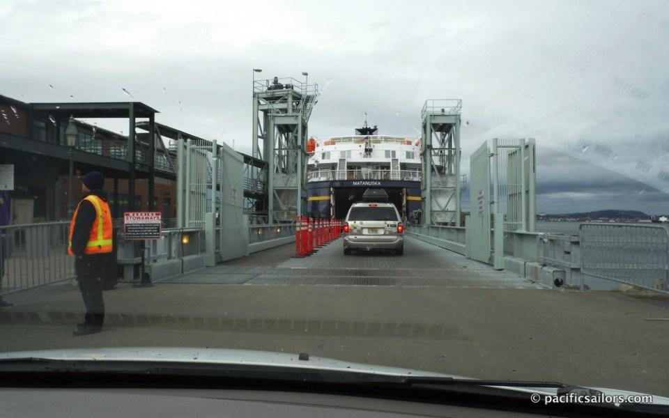 Boarding the ship in Bellingham