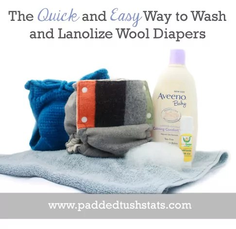The Quick and Easy Way To Wash and Lanolize Wool Cloth Diapers