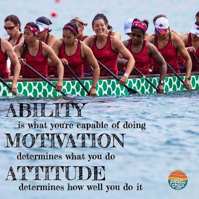 How is your attitude affecting your success? paddlechica dragonboat positiveattitudehellip