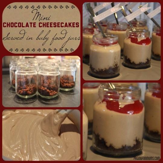 Mini Chocolate Cheesecake Jars - (Louise) - Paging Fun Mums