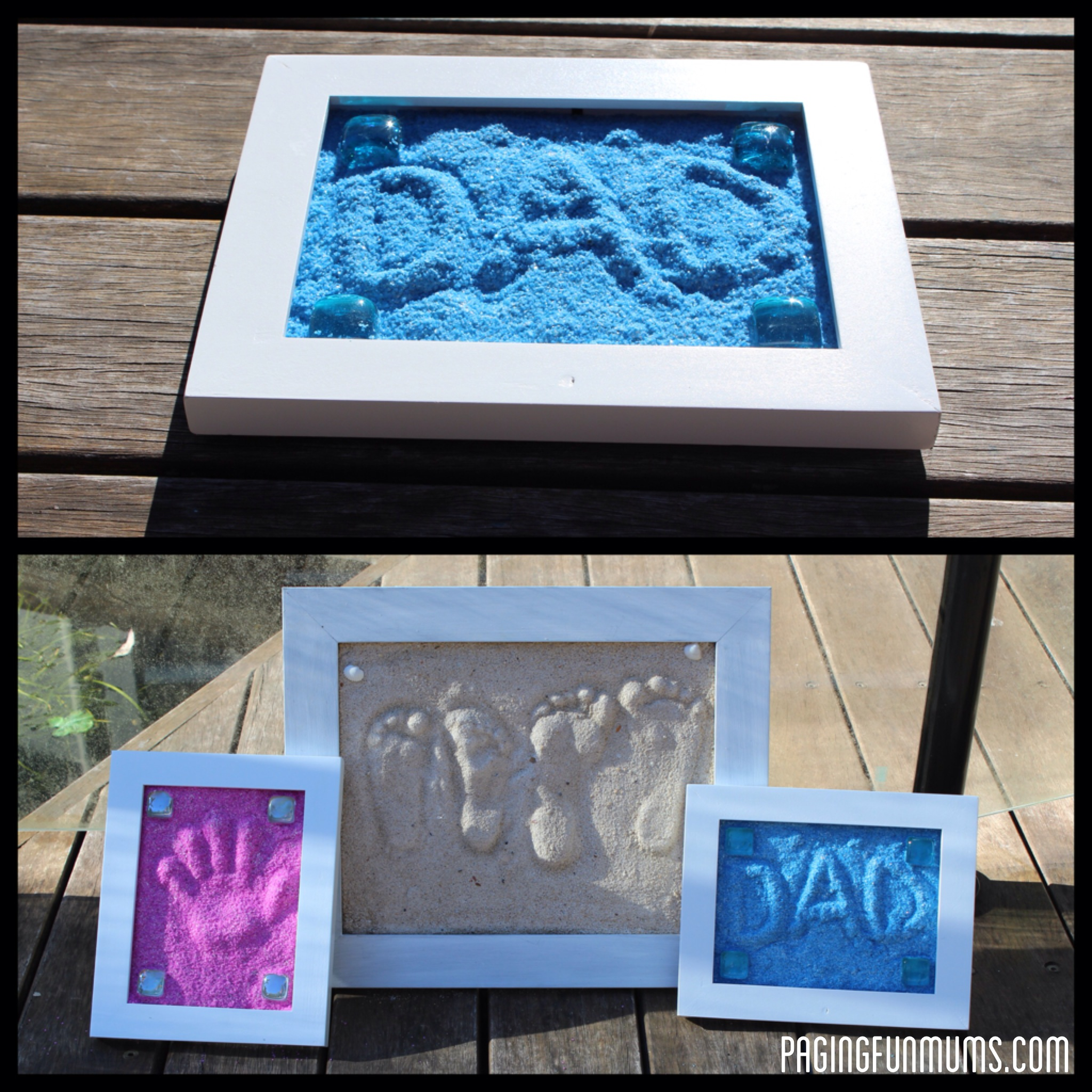 make your own sand impressions instructions