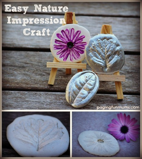 Easy and FUN Nature Craft - Plaster Impressions