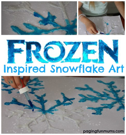 Frozen Inspired Snowflake Art - perfect for a Frozen themed party!