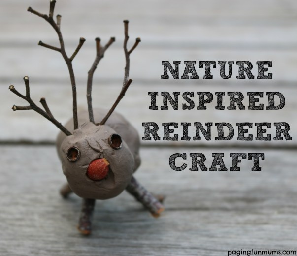 Nature Inspired Reindeer Craft - such a cute and frugal Christmas craft idea!