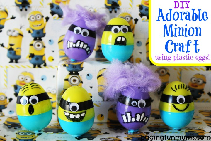 DIY Adorable Minion Craft using plastic eggs