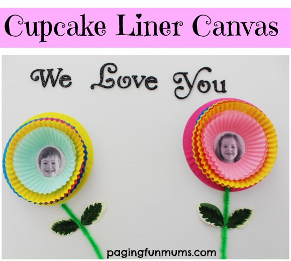 Cupcake Liner Canvas