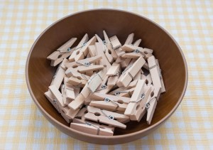 bowl of pegs