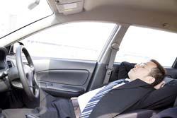 asleep car threesome