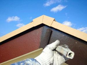 屋根の板の仕上げ
