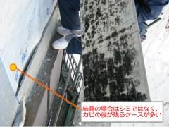 サイディング壁の劣化写真1