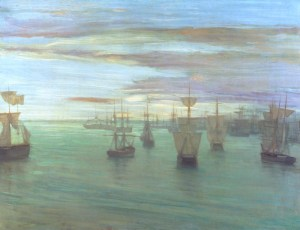 Crepuscule in Flesh Colour and Green: Valparaiso 1866 - James Abbott McNeill Whistler (1834-1903)