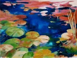 Carol-lopez-water-lillies-reflection