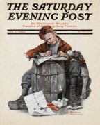 norman-rockwell_little-boy-writing-letter