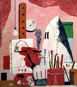 The Studio oil on canvas 1969 51 x 42 inches by Philip Guston