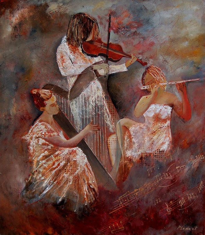 Three Musicians by Pol Ledent, Belgium