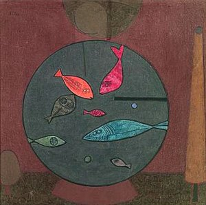 Fisch im Kreis (Fish in a Circle) -- tempera 1926 43 x 42 cm Paul Klee (1879-1940)