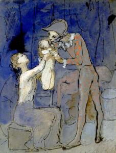 pablo-picasso_harlequin-family_1905