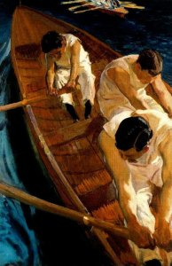 joaquin-sorolla_in-the-rowing-boat_1910