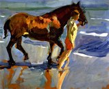 joaquin-sorolla_the-horse-bath_1909