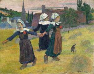 paul-gauguin_breton_girls_dancing_pont-aven