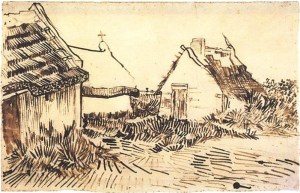 vincent-van-gogh_Three-Cottages-in-Saintes-Maries