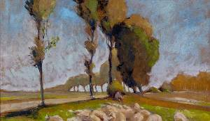 Henri-Edmund-Cross_Shepherd-and-Sheep