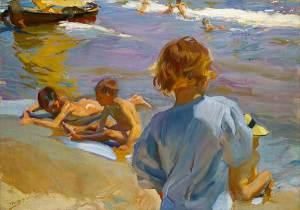 Joaquín-Sorolla_Children-on-the-beach-Valencia
