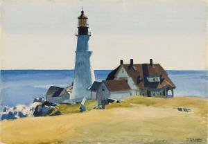 edward-hopper_lighthouse-and-buildings_1927