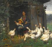 wilhelm-schutze_feeding-the-geese