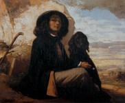 gustave_courbet_self-portrait-with-black-dog