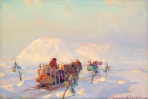 clarence-gagnon_crossing-the-ice-bridge_sketch-ca.1919-20