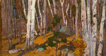 tom-thomson_forest-interior-birches_1916