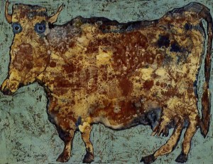 Jean Dubuffet, The Cow with Subtile Nose, 1954